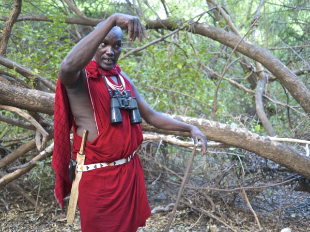 Ole Setei enjoys telling guests about the traditional Masaai rituals that men still engage in around the area