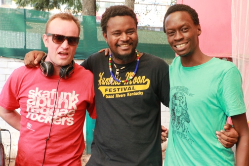 Bad Mambo n Kaya Kenya Creative Director Matthew Swallow, Logistics Director Kahiu Kahiu and Marketing Director Adam Kibei